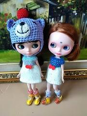 Blythe 2 tone knitting dresses