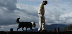 Each Single Morning (J.J.Evan) Tags: sky dog man mountains clouds muelle dock friendship perro cielo nubes melancholy amistad melancolía hombre montañas
