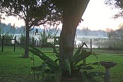 Good Morning (West Beach Sunset) Tags: lake tree silhouette dawn early backyard october birdbath artistic digitalart goodmorning hdr fencepost natureshot outdoorphotography eosrebelt1i picmonkey sj007