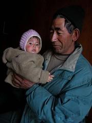 Great Grandfather and Great Granddaughter - Leh, Ladak, India