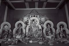 Durga Puja in Aikotaan, Dwarka @Delhi (me suprakash) Tags: india blackwhite durga durgapuja hindufestival nikon2470mm nikond700 bengaliculture sharodotsav