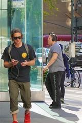 newyork hat sunglasses manhattan side cellphone east upper cap earphones iphone redsneakers