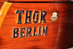 THOR by Engelbrecht Berlin (1935) (Transaxle (alias Toprope)) Tags: show wood berlin classic water beauty 1936 vintage fun boats boot volvo boat nikon barca barco ship power barcos ships fair barche historic soul classics olympia oldtimer motor inline watersports thor veteran six messe funkturm motorboat engelbrecht veterans clasico lancha charlottenburg radiotower toprope olympicgames 1935 watersport penta wodden oldtimershow motora klassik nautic d90 motoscafo clasicos motorklassik 6cylinders motobarca sixcylinders cameraboat escortboat classicberlin rowingchallenges