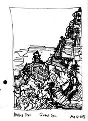 Cliffs on Kaibab Trail (Kerry Niemann) Tags: grandcanyon kaibabtrail penandinkdrawing