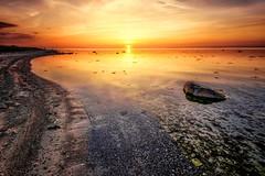 Weststrand (dubdream) Tags: ocean sunset sky seascape beach water rock clouds germany landscape nikon shoreline balticsea landschaft ostsee hdr d800 calmsea colorimage beautyinnature wetreflection grosenbrode dubdream