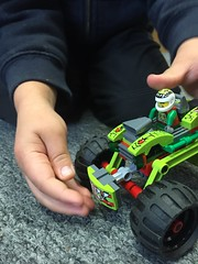 new Lego toy (artnoose) Tags: playing fall car bernard toy carpet lego 2015