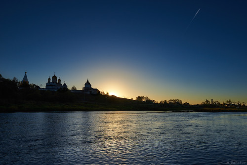 The monastery at sunset