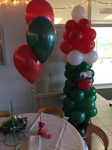 Tafeldecoratie 3ballonnen Sulzer Turbo Services Rotterdam