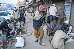 """INDIA7463/ """" the CLINIC"""" (Glenn Losack, M.D.) Tags: street people india portraits photography delhi muslim islam poor photojournalism buddhism impoverished help health flip flops local bleeding clinic hindu scenics wounds handicapped deformed beggars ulcers glennlosack losack glosack dahlits"""