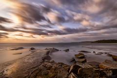 Left Light (Crouchy69) Tags: ocean sea sky seascape motion beach water clouds sunrise landscape dawn coast rocks long exposure waves north sydney australia turimetta