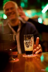Just... (Kym.) Tags: andalucía andalusia bar beer day2 glass green guinness nerja people pub spain wine wineco