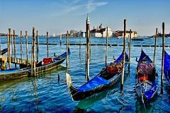 Venezia (giannipiras555) Tags: venezia chiesa campanile gondola riflesso acqua panorama laguna mare blu