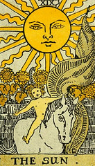 The Sun (~ Lone Wadi Archives ~) Tags: tarot tarotcard blackmagic occult fortunetelling sorcery retro 1910s