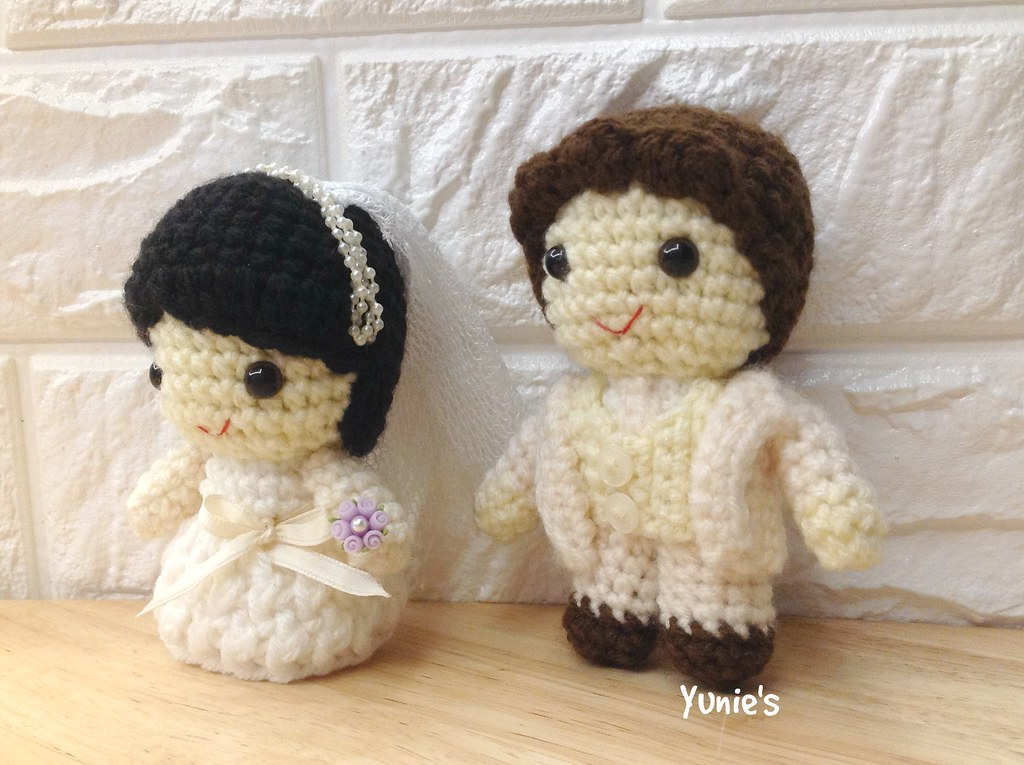 Items similar to Free shipping,Made to Order: Amigurumi Wedding ... | 765x1024