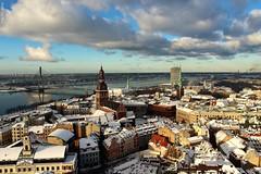 The beautiful Riga       [  Explore ] (IVAN 63) Tags: christmastree riga latvia lettonia baltic view panoramica natale white panorama vista paesaggio neve natalizio nevivatabianco landscape snow christmas wow winter frozen