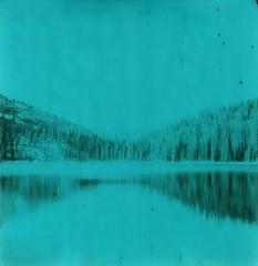 (sol exposure) Tags: twinlakes montana polaroid 680 impossible green duochrome
