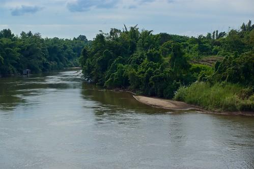 River Kwae Noi seen from Prasat Mueang Singh in Kanchanaburi, Thailand