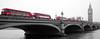 London in Red (PM Kelly) Tags: london red bus colorkey colorization bridge big ben bnw bw blackandwhite blackwhite