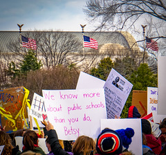 2017.01.29 Oppose Betsy DeVos Protest, Washington, DC USA 00240