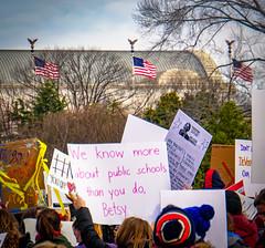 2017.01.29 Oppose Betsy DeVos Protest, Washington, DC USA 00240