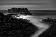 Pacific Chasm (StefanB) Tags: 1235mm 2016 bw california coast em5 geotag hwy1 longexposure monochrome outdoor pacific sea seascape ocean coastdairiesstatepark