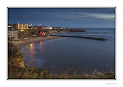 Cullercoats Bay (Seven_Wishes) Tags: newcastleupontyne cullercoats northtyneside outdoor photoborder canoneos1dmarkiv canonef1740mmf4l earlymorning bluehour coastal seaside beach water sea cliff seascape landscape buildings sand shoreline lifeboatstation architecture kc h 2017 edoliverphotography views15k