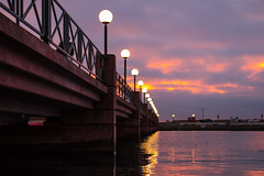 Bridge at sunset (Infomastern) Tags: helsingborg belysning bridge bro lamp solnedgång sunset exif:model=canoneos760d geocountry camera:make=canon geocity camera:model=canoneos760d exif:isospeed=640 geostate geolocation exif:lens=efs18200mmf3556is exif:focallength=35mm exif:aperture=ƒ40 exif:make=canon