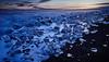 Diamond Beach (LalliSig) Tags: diamond beach landscape ice icebergs long exposure seascape sunset orange blue white black iceland winter cold