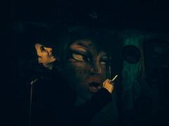 Have a smoke (Vitor Pina) Tags: blackandwhite fineart photography portraits streetphotography vitorpina night people pessoas portrait contrast candid urban urbano rua algarve street scenes streets shadows light woman momentos moments mulher
