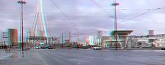 Wilhelminaplein Rotterdam 3D (wim hoppenbrouwers) Tags: wilhelminaplein rotterdam 3d anaglyph stereo redcyan