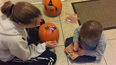 "Mommy and Paul Decorate Pumpkins • <a style=""font-size:0.8em;"" href=""http://www.flickr.com/photos/109120354@N07/32298282993/"" target=""_blank"">View on Flickr</a>"
