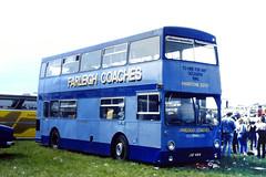 Slide 088-64 (Steve Guess) Tags: epsom downs racecourse surrey england bus gb uk jgf410k farliegh coaches dms daimlier fleetline lt london transport