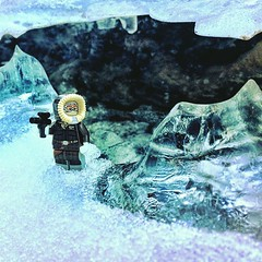 Han Solo exploring Wampa Ice liar (krocans) Tags: starwarslego lego latlug starwars