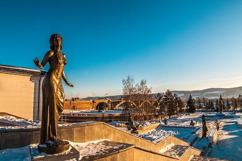 December in Krasnoyarsk