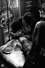 Tattoo Week Białystok (Qdłaty) Tags: 50mm tatuaże nikon tattoo podlaskie białystok bw illford blackandwhite iso1600 f501 polska hp5 2017 bialystok iside nikonf501 film podlasie nikkor analog poland