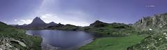 Panormica del lac Gentau (uno de los ibones de Ayous) (Jabi Artaraz) Tags: lac verano zb montaa pirineos panormica ibn ayous ibones gentau euskoflickr pirynees mididossau jartaraz lacgentau refugiodeayous