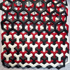 tricontinuous honeycomb weave (mike.tanis) Tags: art paper design origami crafts surface surfacedesign textile hexagon kirigami honeycomb paperfolding lattice folding papercraft paperweaving tricontinuous