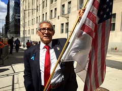 America on September 11th, 2015 (Benzadrine) Tags: nyc newyorkcity portrait people usa signs streets america downtown remember manhattan flag worldtradecenter 911 streetportrait flags financialdistrict streetphoto wtc gothamist patriots godblessamerica neverforget september11th iphone oldglory fidi truthers
