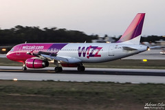 Wizzair --- Airbus A320 --- HA-LPN (Drinu C) Tags: plane aircraft aviation sony airbus panning dsc a320 wizzair mla lmml halpn hx100v adrianciliaphotography