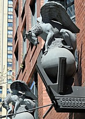 Coronado 887 (Nathan_Arrington) Tags: street city nyc newyorkcity sculpture ny newyork building monster statue architecture corner buildings wings wolf apartments dragon postmodern angle outdoor manhattan entrance depthoffield fantasy upperwestside perched 1989 gargoyles coronado creatures mythology globes wolves condominium faade brickbuilding redbrick entranceway architecturalphotography reptilian postmodernarchitecture midrise postwararchitecture caststone flyingwolf ismaelleyva wingedwolf pterolycus 70thandbroadway coronadobuilding schumanlichtensteinclamanandefron pterolykos lincolncenterneighborhood 155west70thstreet