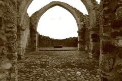san simeone bonorva (piera tedde) Tags: sardegna italy monochrome monocromo italia sardinia chiesa terra arco architettura isola archi rovine seppia memorie