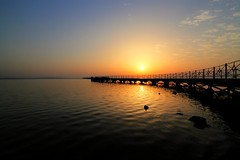 This will be a beautiful day (Siuloon) Tags: bridge sea vacation sky sun beach water architecture landscape coast pier seaside waterfront outdoor redsea egypt shore hurghada soce pomost