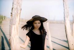 (Sunshine Thief) Tags: summer portrait sexy film beach sunshine analog 35mm 50mm evening bokeh superia 14 portraiture fujifilm lovely zuiko olympusom1 fujicolor
