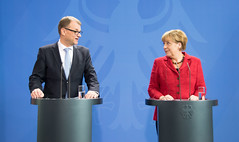 Prime Minister Juha Sipilä meeting with Federal Chancellor Angela Merkel