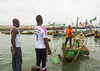 Benin, West Africa, Cotonou, fishermen ships in the port (Eric Lafforgue) Tags: africa wood people color male men horizontal boats outdoors photography wooden fishing day market harbour traditional ships transport citylife craft shore westafrica benin tradition fleet tropics adultsonly cotonou 3people rowingboat menonly realpeople threepeople modeoftransport colourimage africanethnicity بنين ベナン бенин 贝宁 benin09778