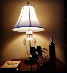 the Light the Shoes and a bottle of Wine (MT 1964) Tags: lamp shoe high pub shoes highheels wine strap heels stiletto nightstand bandb