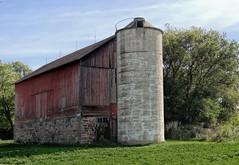 Red Barn, Rural Wisconsin, USA (MalaneyStuff) Tags: old red usa fall wisconsin barn rural farm sony farmland redbarn dschx100v ruraloct2015
