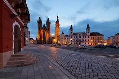 Velk nmst (safris76) Tags: city blue light night square czech bluehour nmst duch hradec bl non krlov radnice v velk