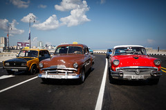 Classic cars on the Malecn (Lil [Kristen Elsby]) Tags: travel chevrolet buick topv1111 havana cuba streetlife malecon lada classiccars vintagecars travelphotography themalecon canon5dmarkii