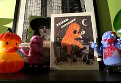BOO! (Georgie_grrl) Tags: halloween toys card zombies punkin duckie fromjoann canonpowershotelph330hs mynewdarkpinkside boooorayforthepony